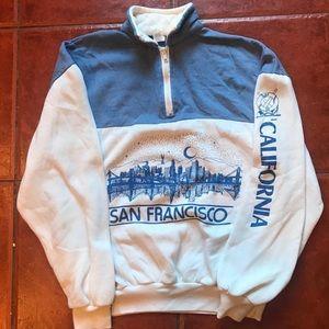 Other - Vintage Quarter Zip San Francisco Sweater! LARGE